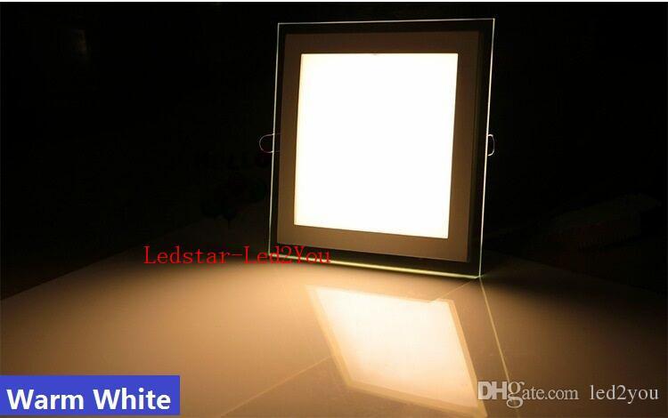 무료 배송 디 밍이 유리 패널 Led Lighs 9 와트 18 와트 25 와트 Led 패널 빛 라운드 광장 쉘 유리 다운 라이트 IP44 AC 110-240 볼트