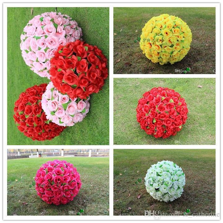16 40cm Big Artificial Simulation Rose Balls Of High Quality