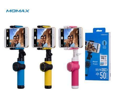 핫 판매자 슈퍼 MOMAX 새로운 원격 카메라 셔터 Selfie 스틱 블루투스 컨트롤러 휴대용 모바일 사진 전화 유니버설 브라켓 50CM