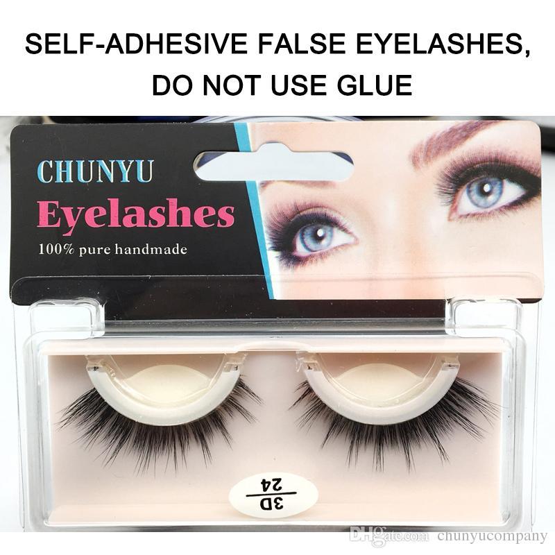 False Eyelashes Self Adhered Hand Made False Lashes 100 No