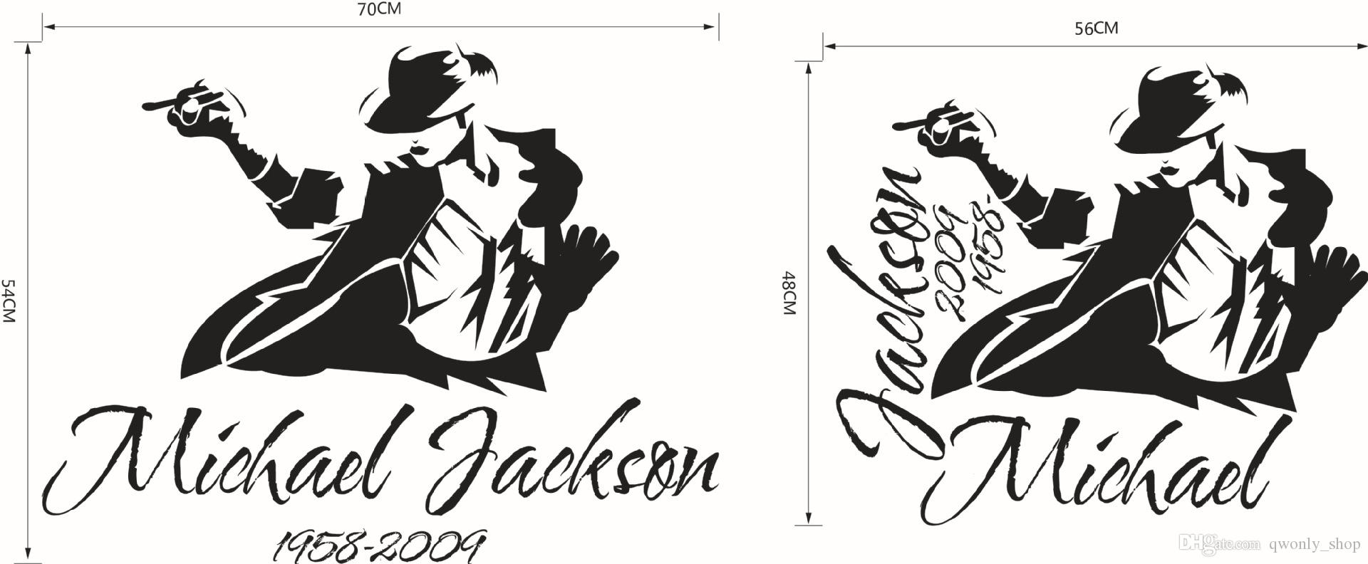 2017 Dancing Michael Jackson Wall Stickers Removable Vinyl Wall Decor Wall Decals Art Poster DIY Home Decor