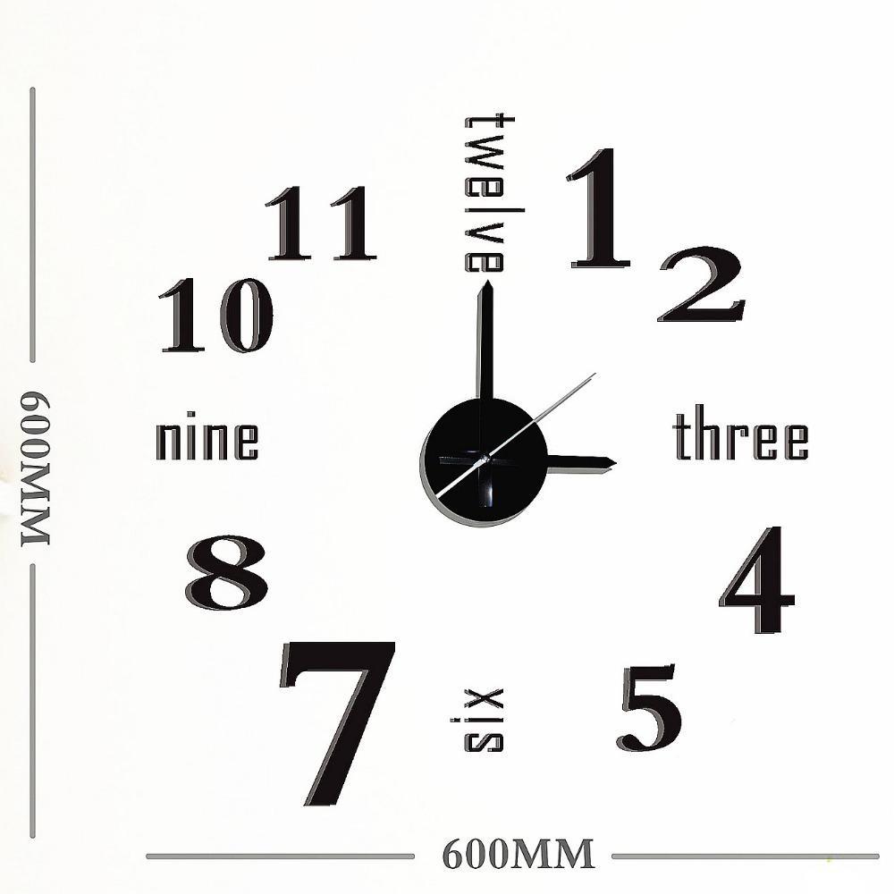 Quartz Clock Diagram Pieces Electrical Wiring Diagrams Digital Circuit 2017 New Arrival Clocks Fashion Watches 3d Big Wall
