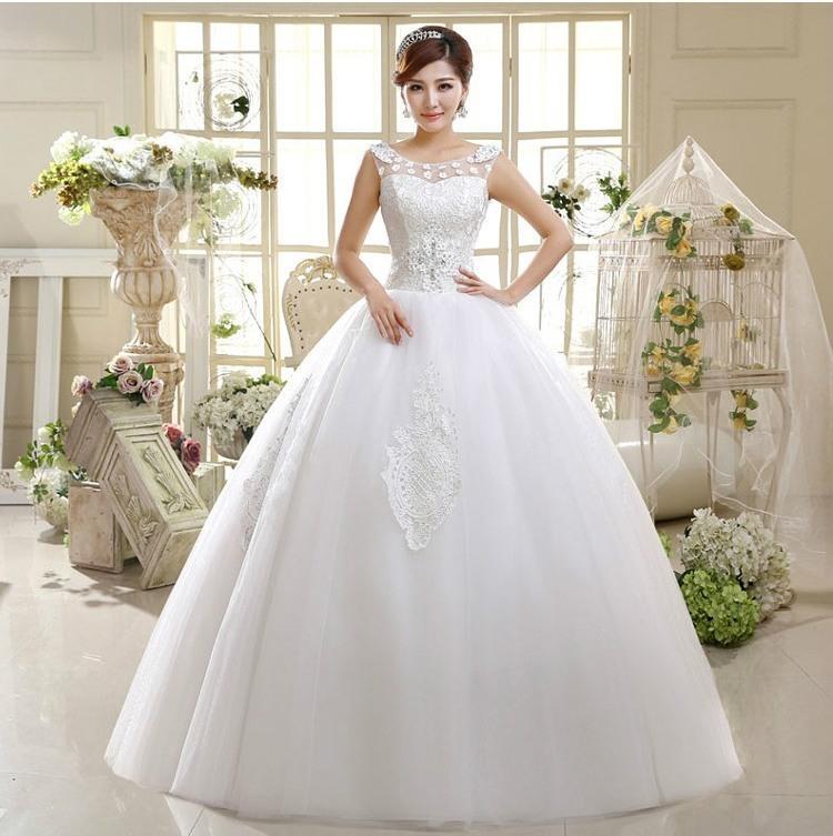 vestido novia playa lace wedding gowns floor length wedding dresses