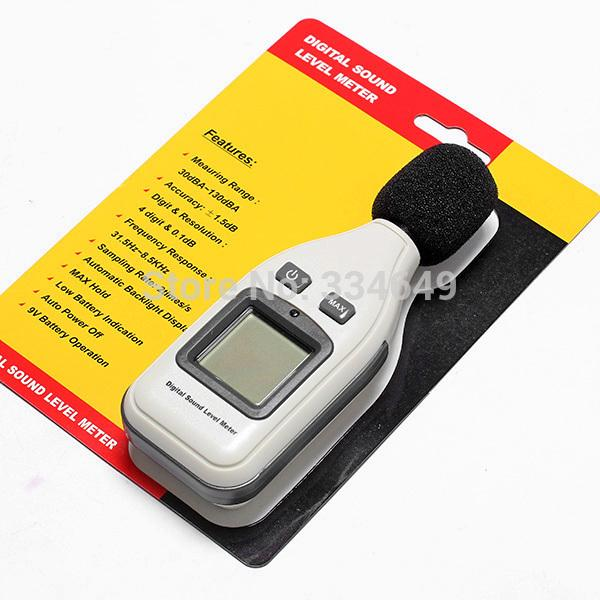 Decibel Monitor Pressure Tester LCD Digital Audio Sound Noise Level Meter  Best Selling T0012