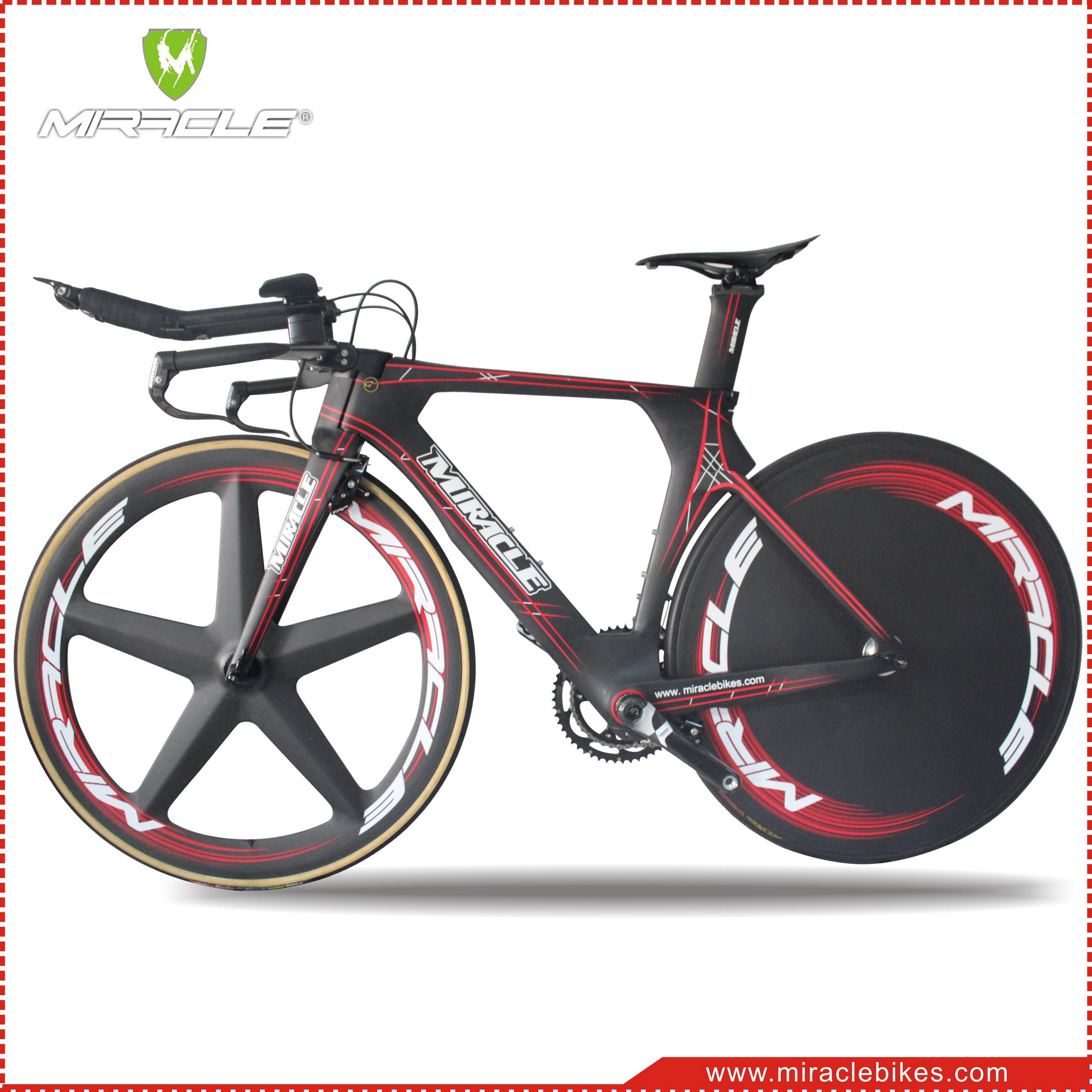 2016 Time Trial Bicycle Miracle Carbon Fiber Triathlon Bike 52cm