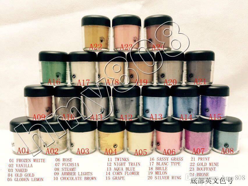 Nouvelle arrivée-vente en gros tout nouveau fard à paupières Pigments Poudre 7.5G maquillage de fard à paupières unique / mat / nude
