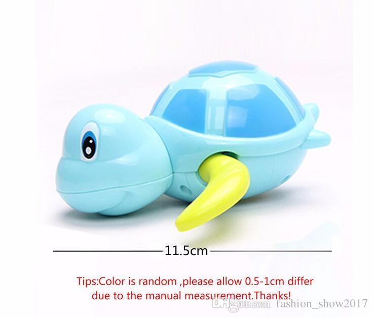 신생아 만화 동물 거북이 아기 목욕 장난감 유아 수영 거북이 체인 시계 클래식 장난감 아이 교육 장난감
