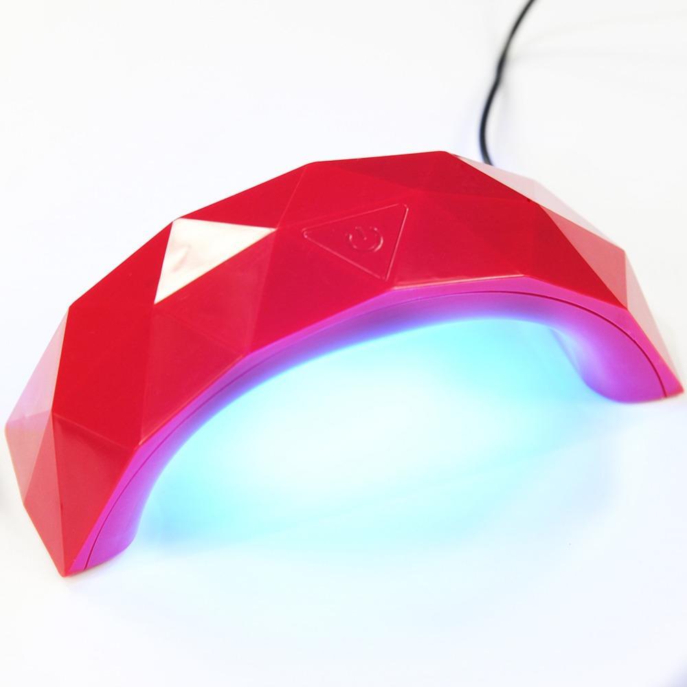 9W الأشعة فوق البنفسجية بقيادة مصباح مجفف الأظافر المحمولة كابل USB للاستخدام المنزلي مجففات الأظافر جل البولندية مجفف مصباح المصغرة USB