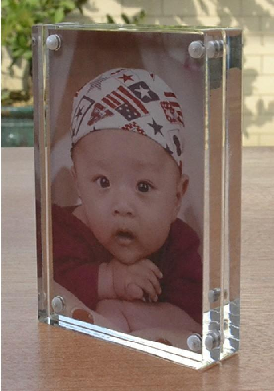 6X8 Transparent Acrylic Perspex Photo Picture Frame Block With ...
