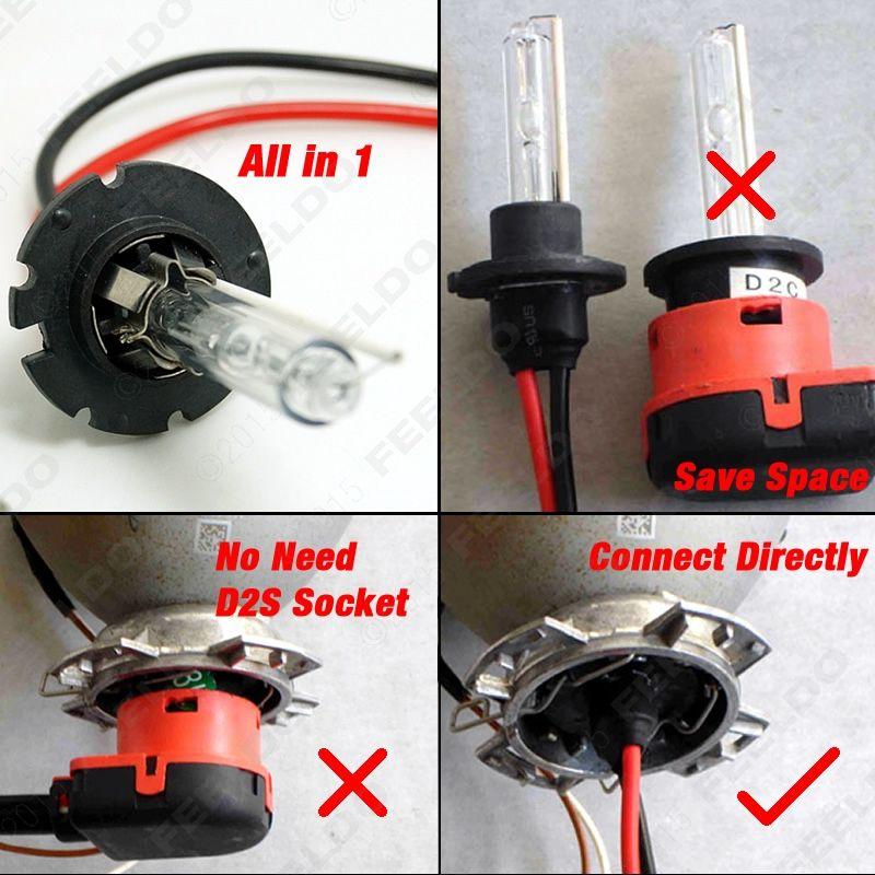 Feeldo 35W D2H HID XENON ampoules compatible avec D2S / D2R / D2C / D4S pour la modernisation # 4489