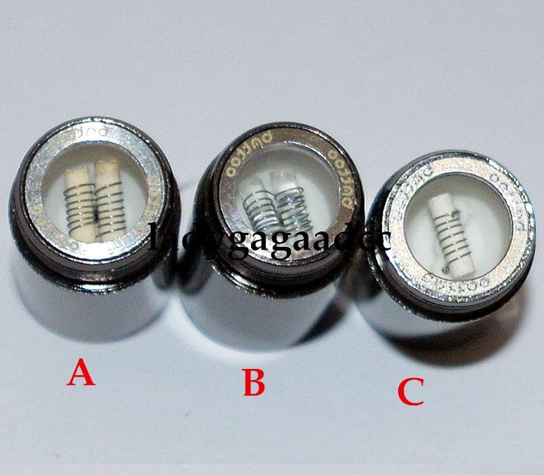 Vape Skillet Vaporizer Wax Dual Ceramic Rod coils Tank Vaporizer, Replacement Wax Skillet Atomizer Suit For EGO-B,EGO-C,EGO-T,EGO-w