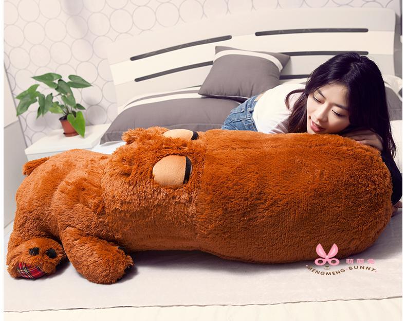 "2016 teddy bear giant teddy bear Brown Grey Hedgehog Color 34"" 51"" 59"" Size 85cm 130cm 150cm birthday gift"