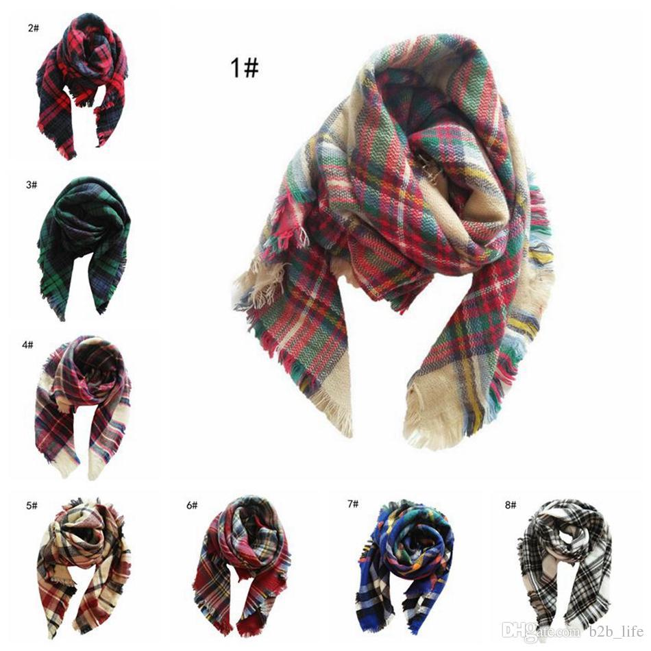 Детский шарф в шотландскую клетку для младенцев 100 * 100см Шарф-шарф в шотландскую клетку Осень-зима Платок для детей в шотландскую клетку Детский плед в виде пледа Теплый шейный платок 120шт OOA2753