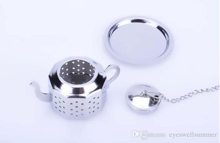304 الفولاذ المقاوم للصدأ فضي شكل إبريق الشاي infuser مصفاة أداة بالجملة