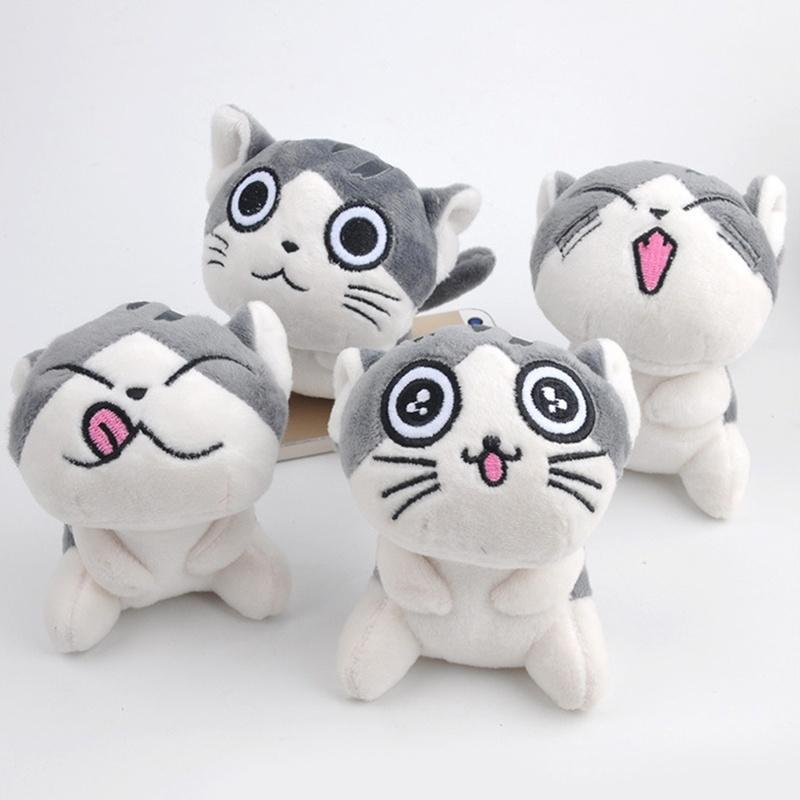 2017Cat Meow Collection Mini Plush Muñecas de peluche Cute Pen Pen pequeños juguetes de peluche Color: gris