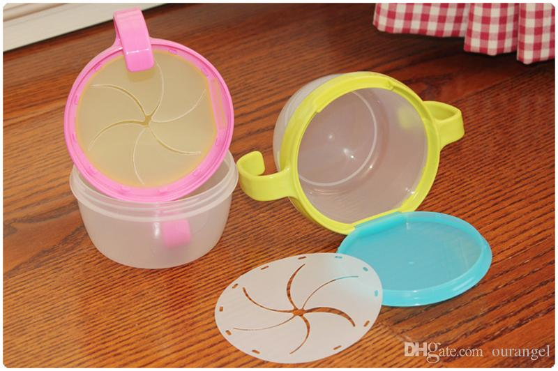 Baby Dishes Bowl Child Kids Food Snacks Candy Biscuit Anti spill Storage Holder Tank Non spilling Cup with Cover & Handle
