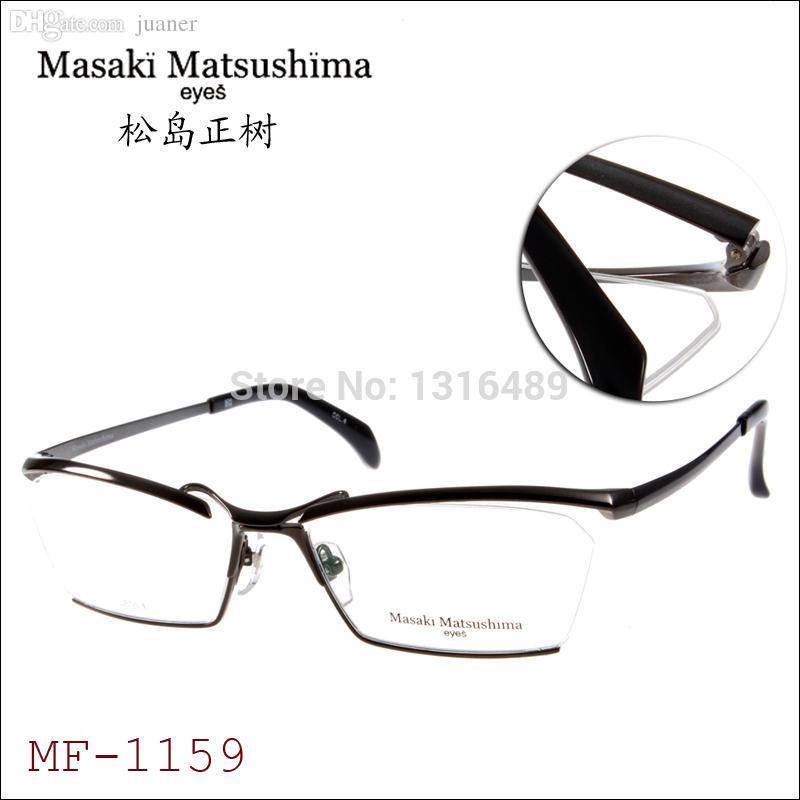 ae9a09c2885 2019 Wholesale MF1159 Masaki Matsushima Optical Frames 2015 New Brand  Designer Eyeglasses Titanium Men Rimless Eyewear Frames Size 58 16 144 From  Juaner