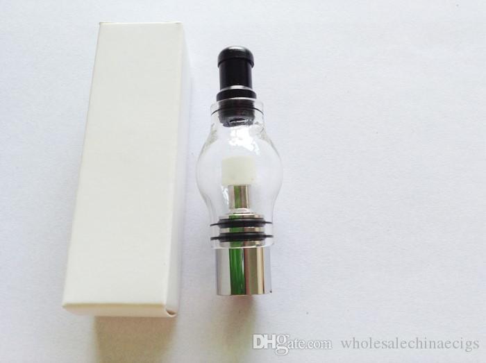 Верхний стеклянный шар распылитель Pyrex Wax сухая трава Бак испаритель травяной двойной керамический Кварц Купола катушек Glassomizer Vape Pen паров электронной сигареты Распылители