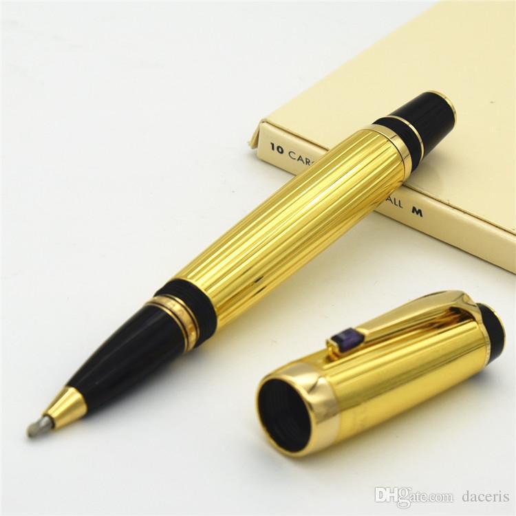 الأكثر مبيعًا القلم الفضي المعدني الفضي / الذهبي من ركلة جزاء مع قلم مكتب المدرسة والقرطاسية الكلاسيكية ماركة أقلام حبر جاف
