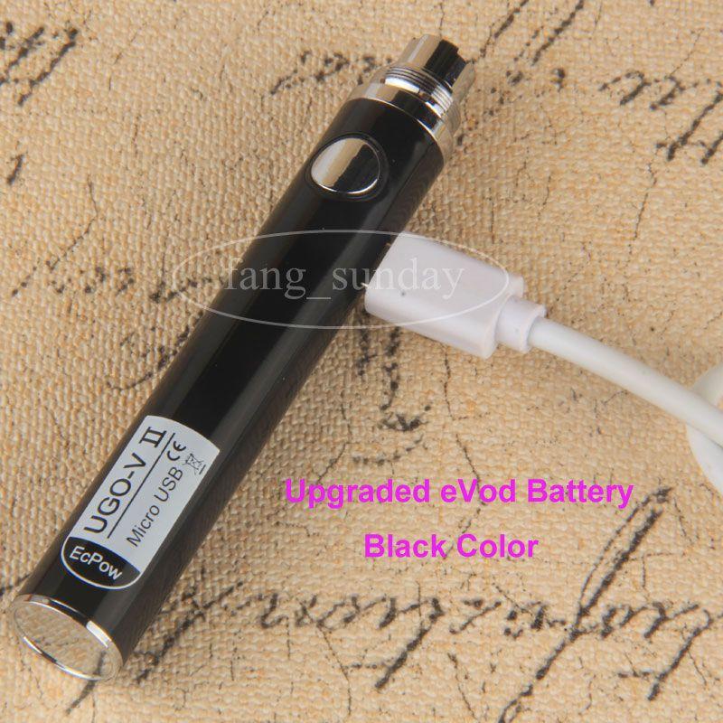 E Sigara eVod Buharlaştırıcı Elektrik Kalem Buhar Geçişi UGO V II 510 Konu Pil + Mikro USB Kablosu eGo Şarj Vapes