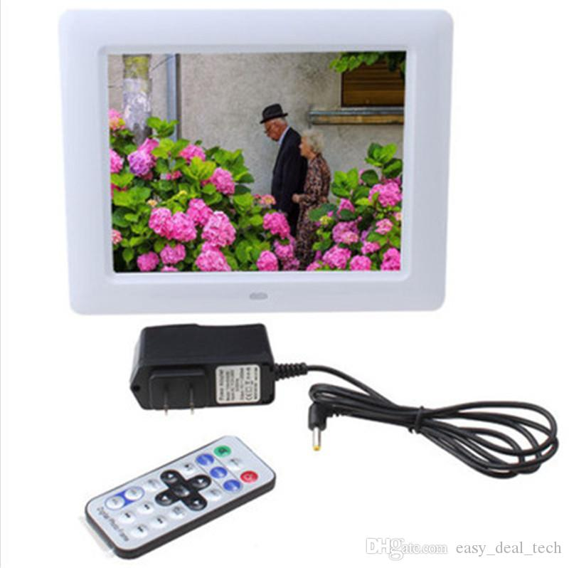 8 inch Ultrathin HD Digital Photo Frame with Alarm Clock MP3 MP4 Movie Player digital Photo Picture Album with Remote control Q0150