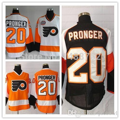 30 Teams-Wholesale 20 Chris Pronger Home Orange Black And White Ice Hockey  Jersey Jersey Black Jersey Panthers Jersey Online with  37.86 Piece on  Probowl s ... 710db3665