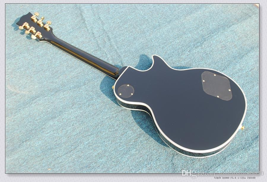 Черный пользовательские левой рукой электрогитары красного дерева тела OEM фарфора гитары горячие