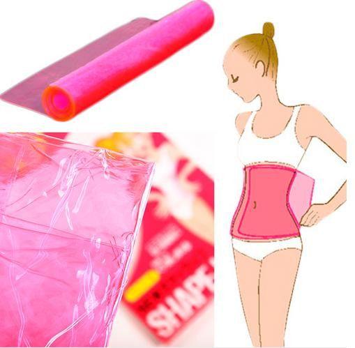 Sauna Slimming Waist Tummy Belly Belt Wrap Thigh Calf Lose Weight Body Shape-Up Slim Belt Body shaper