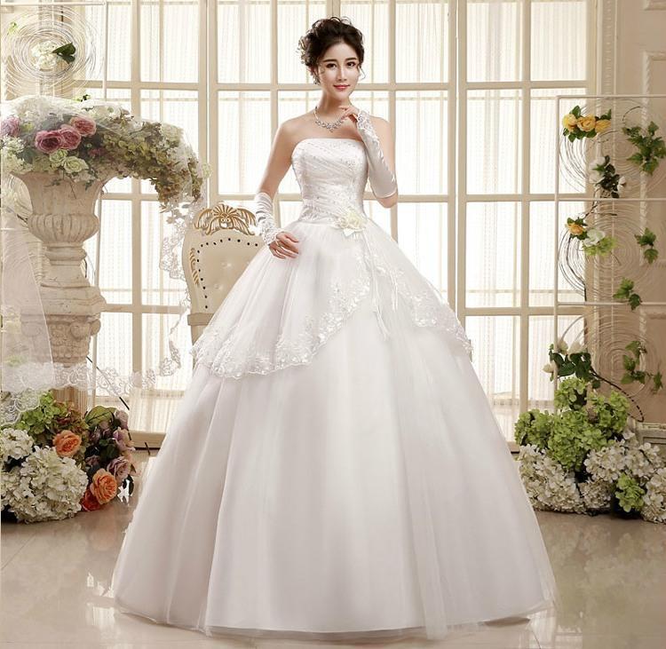 Shanghai Story Factory Price Strapless Wedding Dress Lace Wedding ...