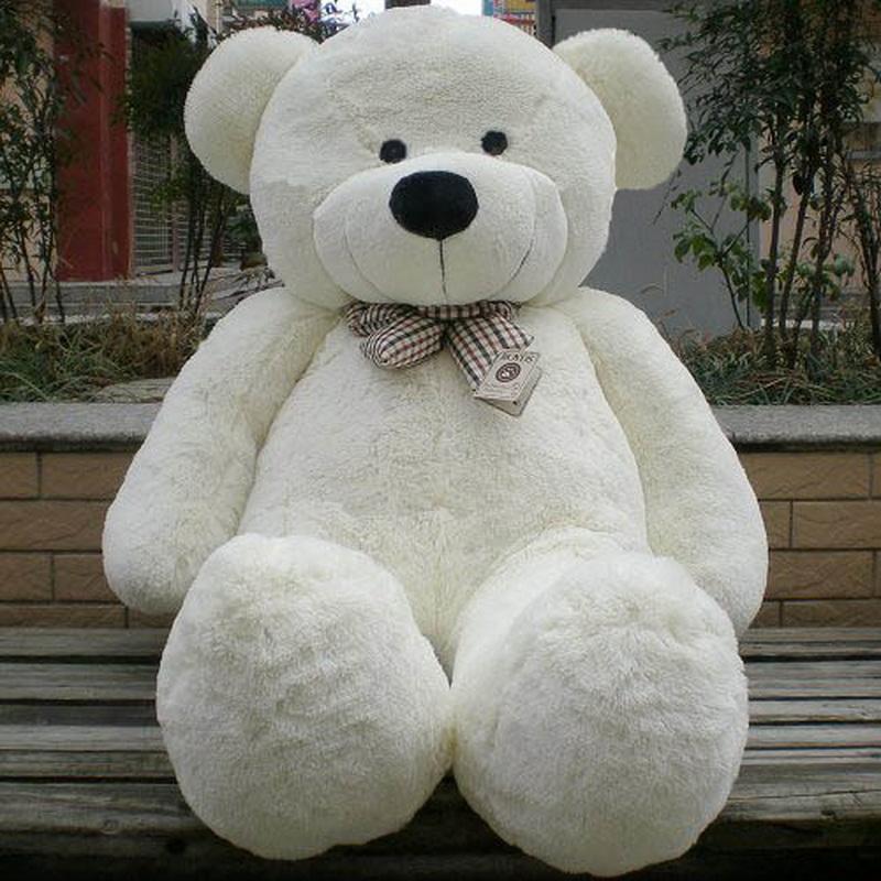 best white teddy bear stuffed giant jumbo 5 3 feet 63 6 feet 72