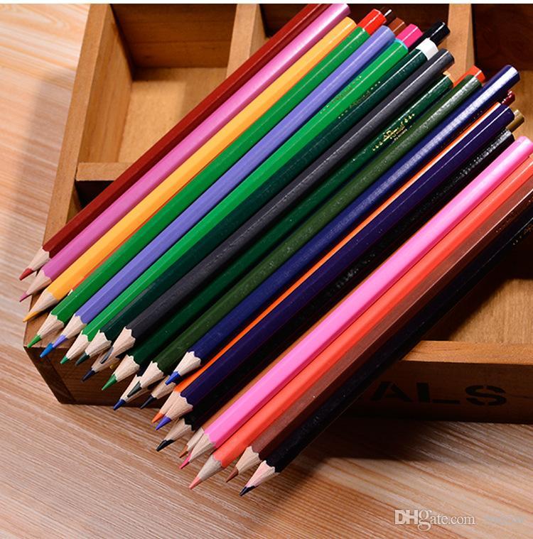성인을위한 나무 컬러 연필 프리미엄 컬러 연필 연필 틴 박스 포장을위한 36 색연필 세트