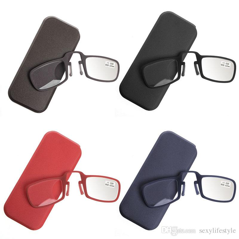 b3866418a0 Compre Gafas De Lectura Con Clip De Nariz Portátil Mini Con Estuche 1.0 1.5  2.0 2.5 3.0 3.5 A $12.41 Del Sexylifestyle | DHgate.Com