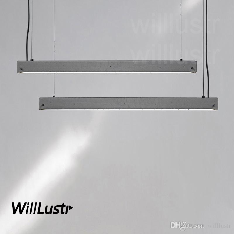 Grosshandel Willlustr Betonlineal Pendelleuchte Led Zement Talo