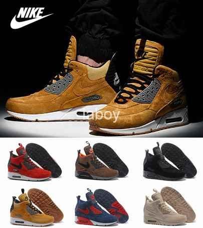 nike roshe black, Nike Air Max 90 SneakerBoot Winter Men's