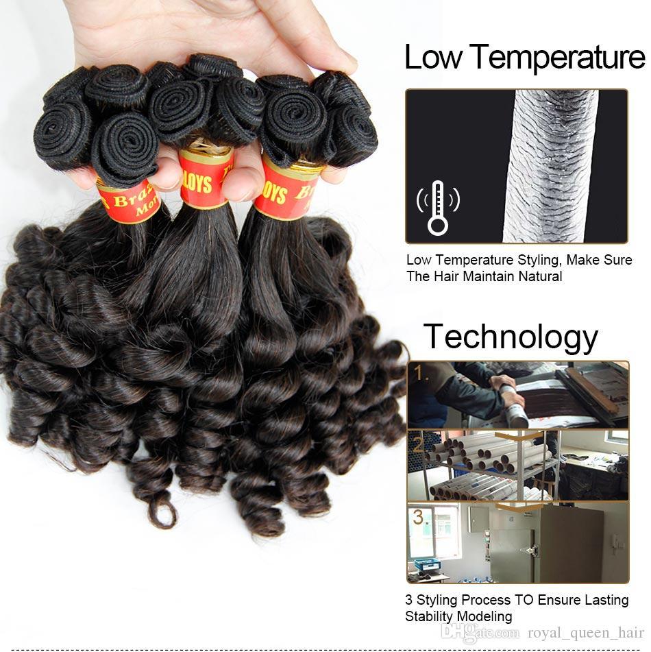 Brésilienne Aunty Funmi Vierge Cheveux Non Transformés Vierge Brésilienne Vierge Funmi Tisse des Tissus Spirale Romantique Spirale Romance Curls Extensions de Cheveux Humains 100%
