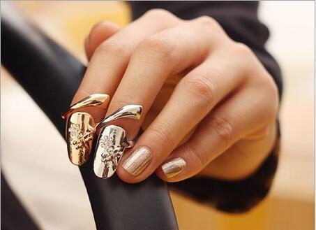 Bing lindo anillo de clavo Set sinfín anillo de clavo goteo Popular venta de clavo taladro un anillo de trébol envío gratis HT57