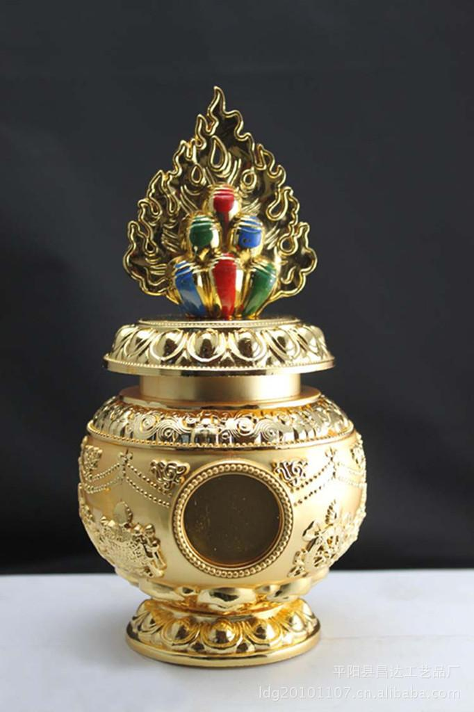 2018 Fortuna Buddha Mani Treasure Vase Large Gold Color Plated