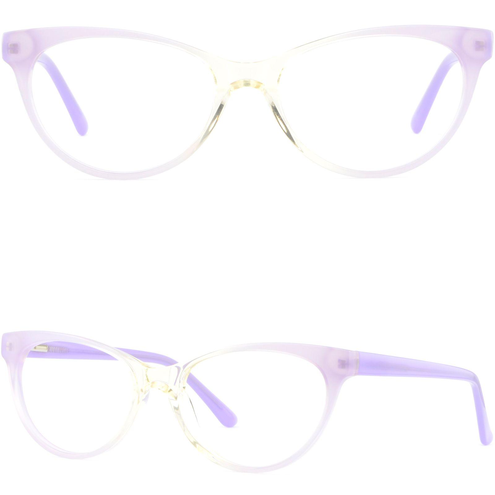Light Womens Cateye Plastic Frames Spring Hinges Acetate Glasses ...