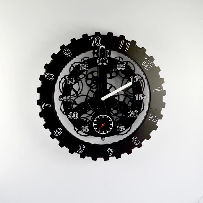 Black Wall Clocks gear clock time creative clock novelty clock personalized wall