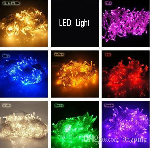 ARTICOLI DI PROMOZIONE !! Grande discout 100 LEDS Stringhe a LED 10M 110V / 220V Clear Wire strisce led Decorazioni natalizie X'mas luci natalizie