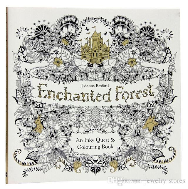 2018 Hot Sell Enchanted Forest An Inky Quest Coloring Book