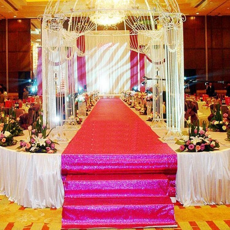 Fashion Dark Purple Pearlescent Wedding Decoration Carpet T station Aisle Runner For Wedding Props Supplies