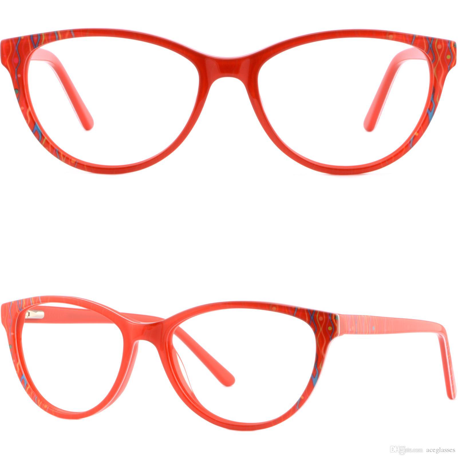13f5f731eaa0 Red Full Rim Plastic Women's Frame Prescription Glasses Sunglasses ...