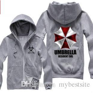 Biohazard Umbrella Corporation Corp Logo معطف سترة الشر الشر هوديس المقيمين سترة مظلة مظلة الشر