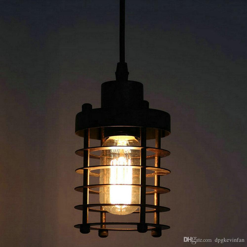 Lampadario a sospensione Birdcage Lampadario a sospensione in ferro d'epoca Lampada a sospensione ristorante Lampadine Edison Lampada a sospensione a testa singola