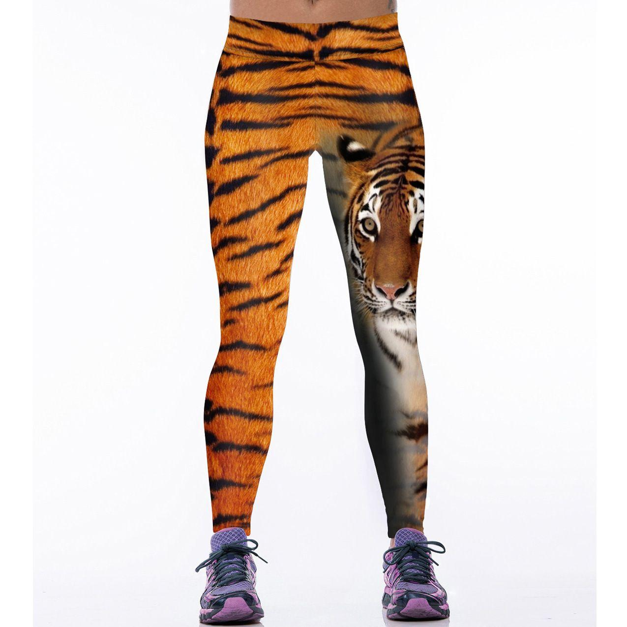 853995330e 2019 3D Tiger Printed Yoga Pants Fitness Women Workout Sports High Elastic  Waist Gym Running Leggings Tights Dry Quick Breathable From Cwq10, ...