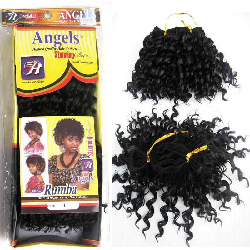 5inches Synthetic Kinky Curly Black Hair Extensions Rumba Hair