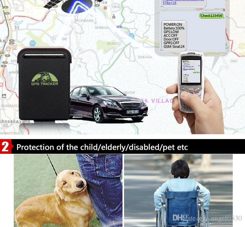 Monitoramento de áudio e serviços de emergência SOS, rastreador GPS Original XEXUN TK102-2 com rastreamento de web gratuito Mini GPS / GSM / GPRS Veículo de carro tk102-