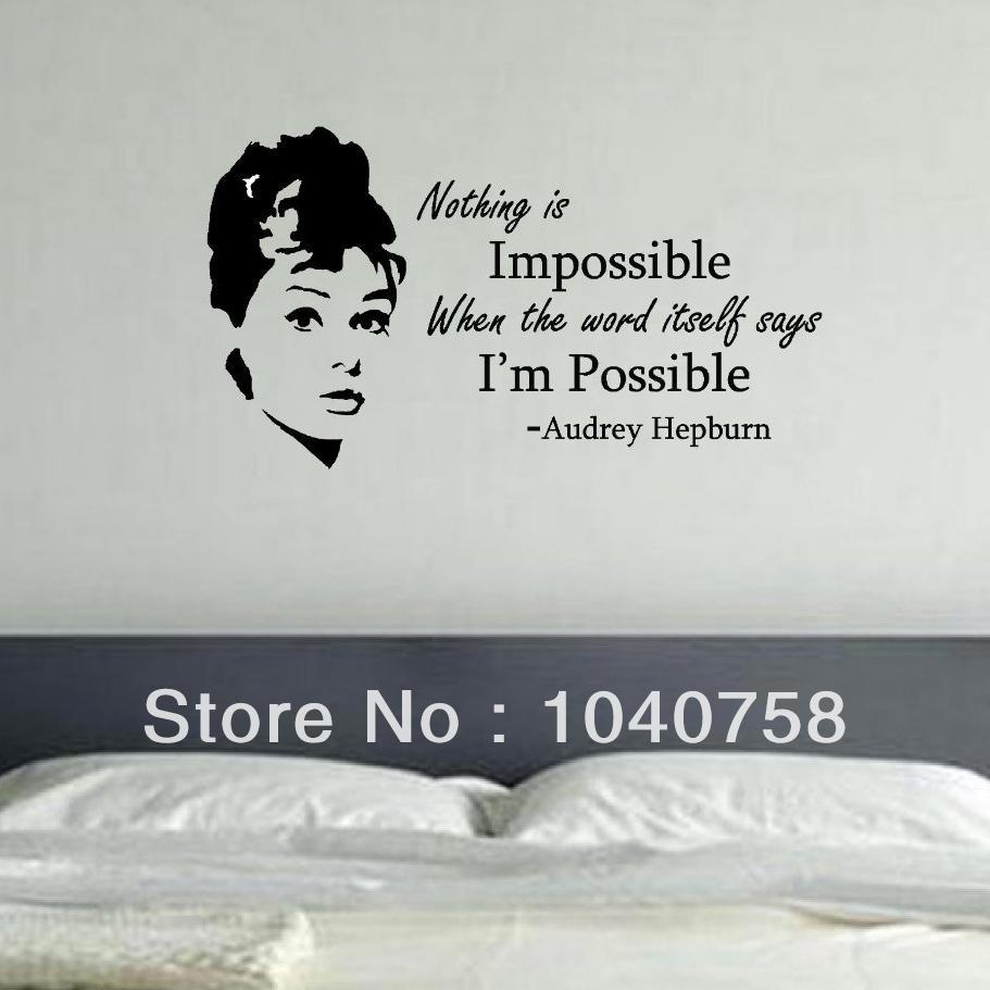 nothing is impossible the word itself says i m possible vinyl wall 22