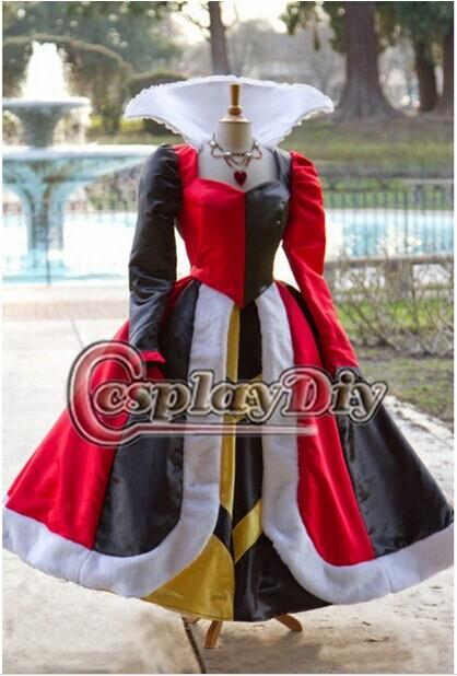 Customized Movie Princess Cosplay Costume Queen Of Hearts